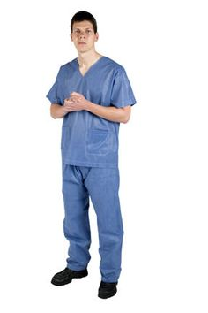 MEDICAL SCRUB SUIT AND SURGICAL MASK !! / NHS/ FANCY DRESS , PARTY HALLOWEEN