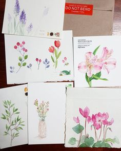 Watercolor Cards, Watercolour Painting, Painting & Drawing, Zentangle Drawings, Art Drawings, Coin Card, Watercolour Tutorials, Drawing Lessons, Simple Art