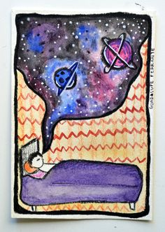 cards - INTØ ▲ BLACK HØLE - Illustration: GUAD▲LUPE FERRANTE