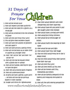 Prayer guides for family and self. A prayer for every day of the month... FREE PRINTABLES