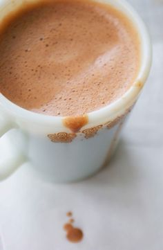 Better than hot chocolate....1/2 tsp raw sugar, 1/2 tsp cocoa powder ...