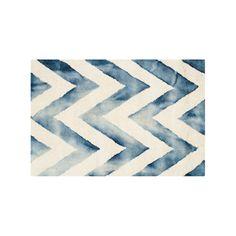 Safavieh Chevron Dip-Dyed Wool Rug, Multicolor