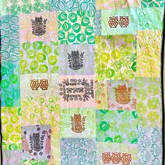 Calling all quilters - block print your own fabrics with Colouricious wooden printing blocks to create the perfect patchwork bedding. Textile Recycling, Bedding, Quilting, Fabrics, Textiles, Curtains, Blanket, Create, Prints
