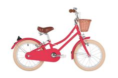 The Bobbin Gingersnap classic vintage kids bike with wicker basket is a refined and stylish Junior bicycle for year olds that your mini-Bobbin rider will cherish. Tricycle, Velo Vintage, Vintage Style, Vegetable Leather, Bike Shed, Bicycle Lights, Kids Bike, Pink Kids, Ginger Snaps