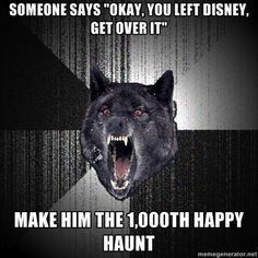 "postdisneydepression:    Someone says ""Okay, you left Disney, get over it""  Make him the 1,000th Happy Haunt"