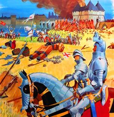 Jeanne d'Arc leading the French at the Siege of Orleans, Hundred Years War