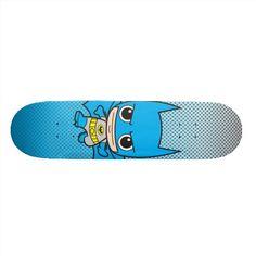 Chibi Batman Running Skate Deck