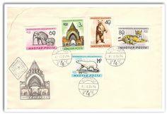 o725 Hungary 1961 FDC Fauna wild animals elephant polar bear tiger zoo (want)
