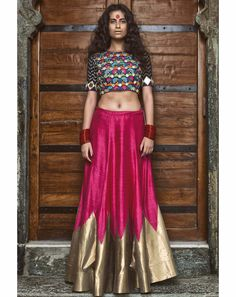 Online shopping on designer brands for women clothing. Discount shopping on designer dresses, footwear, handbags, watches, accessories and much more at Styletag India Indian Skirt, Indian Dresses, Indian Outfits, Indian Attire, Indian Ethnic Wear, India Fashion, Ethnic Fashion, Women's Fashion, Traditional Fashion