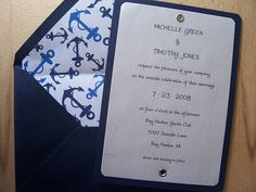 Navy Blue  #wedding invitations & stationery ... Wedding ideas for brides, grooms, parents & planners ... https://itunes.apple.com/us/app/the-gold-wedding-planner/id498112599?ls=1=8 … plus how to organise an entire wedding ♥ The Gold Wedding Planner iPhone App ♥