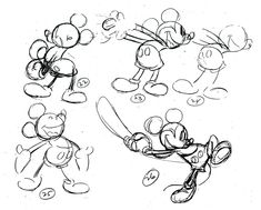 Classic Mickey Mouse Animation Models #illustration #popculture #vintage #disney #mickeymouse #conceptart