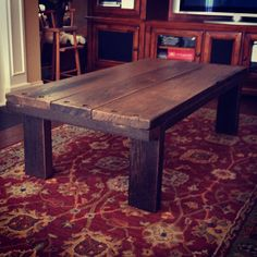 Coffee table made from 150 year old barn wood by GergenStudio, $435.00