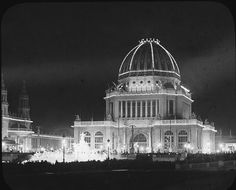 The White City at Night - The World's Columbian Exposition in Chicago, USA 1893 Renaissance, World's Columbian Exposition, Chicago City, Chicago Usa, Chicago Style, My Kind Of Town, White City, Art Deco, World's Fair
