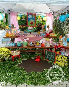 Mesa de dulces Girl 2nd Birthday, Pig Birthday, 2nd Birthday Parties, Fiestas Peppa Pig, George Pig Party, Birthdays, Blog, Bedroom Decor, Party Ideas