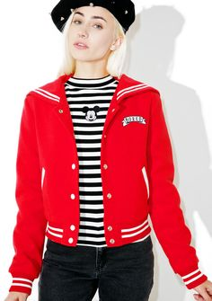 Lazy Oaf Bored Varsity Jacket one day we hope we can reach a level of boredom that'll make you proud, captain~ Show 'em why yer in the lazy hall o' fame with this dope varsity style jacket