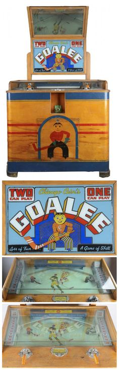 Chicago Coin Goalie Arcade Game - The Chicago Coin Machine Co. manufactured this arcade game in 1954.