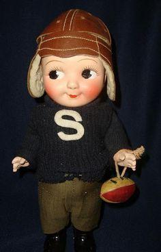 "Vintage ""Buddy Lee""  Football Player Doll."