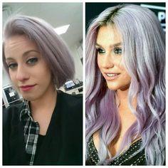 Redken Platinum ice toner left on bleached hair for about an hour! #keshapurple #purplehair #toner #redken