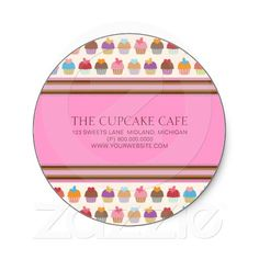 36 best cupcake business cards and stickers images on pinterest cupcake cafe bakery business stickers colourmoves