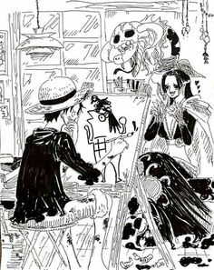 Pro artist - Monkey D. Luffy and Boa Hancock One piece