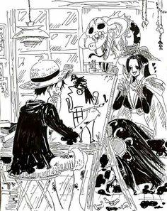 Pro artist - Monkey D. Luffy and Boa Hancock One piece