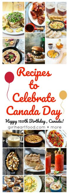 15 recipes Canadian recipes from cocktails, apps, mains to desserts; lots to get the celebrations started! Check out this yummy round up of all kinds of Canadian dishes for your Canada Day celebrations! Canadian Dishes, Canadian Cuisine, Canadian Food, Canadian Recipes, Italian Pasta Recipes, Mexican Food Recipes, Vietnamese Recipes, French Recipes, Japanese Recipes