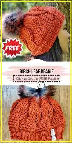 Crochet Leaf Patterns, Crochet Leaves, Crochet Stitches, Easy Crochet, Free Crochet, Knit Crochet, Crochet Hats, Beanie Pattern Free, Crochet Beanie Pattern