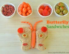 Butterfly Sandwiches with Kids Help! | Healthy Ideas for Kids