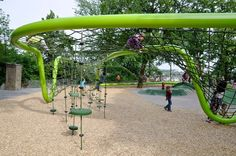 """A """"sculptural playground"""" in Weisbaden, Germany conceived by architecture and landscape studio, Annabau was a 1st Prize winner in a 2009 landscape competition and recently completed last year. Ginormous and I love it."""