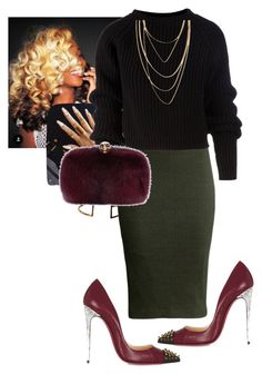 """""""Church!!"""" by cogic-fashion ❤ liked on Polyvore featuring Mecurialist, H&M, Marni, Prada, Alexander McQueen, Christian Louboutin, Forever 21, women's clothing, women's fashion and women"""