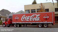 Coca-Cola delivery truck in Palo Alto, California