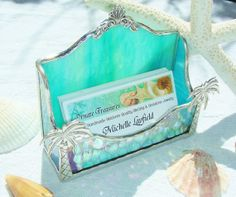 Ocean Lover  Business Card Holder last one with by MoreThanColors, $42.50