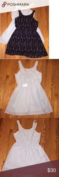 H&M Super Cute Dress Lot NWT Two super cute dresses from H&M. One dress (sea foam color) is new with tags and the other (black) was worn 1 time at Poshfest! Same styles but different colors. Super soft, comfy feminine and flowy dresses. Bundle and Save! 💋👗👠 H&M Dresses