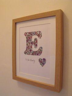 Framed Name Initial Letter Hand Papercut Wall Art £10.00