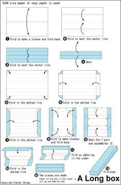 종이접기/상자접기~A4용지 한장으로 완성되는..직사각형 상자접기 : 네이버 블로그