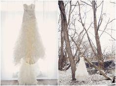 snowy winter wedding shoot