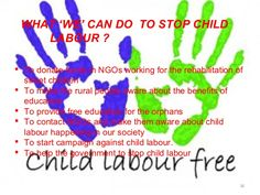 What we can do to stop #ChildLabour