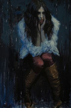 Nocturne, Casey Childs - 9x6, oil on panel, Gallery ID# 15005CHS
