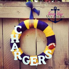 San Diego Chargers Football Wreath