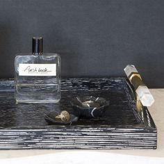 GEMMA TRAY. Gorgeous masculine gift for his vanity... maybe one for me too! Kelly Wearstler