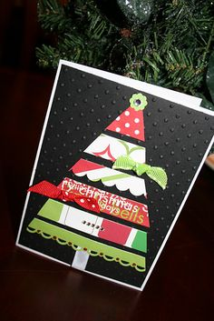 Paper Scraps Christmas Tree Card