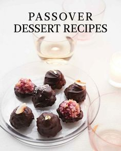 Have your cake and eat it too with our collection of tempting cakes, tortes, macaroons, and matzo desserts.Raspberry Macaroons in Chocolate ShellsFor an elegant ending to the seder meal, these dainty macaroons enrobed in chocolate can't be beat.
