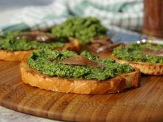 Crostini with Italian green sauce