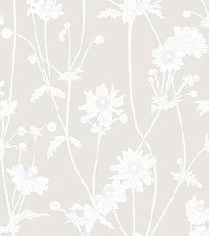 Sandberg Sophie NW Ljusgrå for kitchen and hallway Soft Colors, 21st, Delicate, Wallpaper, Florals, Walls, Patterns, Kitchen, Design