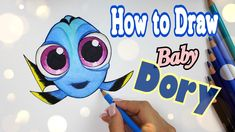 How to Draw Baby DORY || From Finding Dory 2016