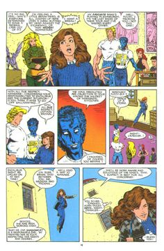 Excalibur special, art by Art Adams. Kitty goes to see Cats Laughing and bumps into the X-Babies.