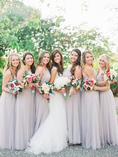 Neutral-Colored Long Bridesmaid Dresses | Dresses – Wtoo Watters | Hair + Makeup – Faces A La Mode | Bouquet – Flowers To You by Jessica https://www.theknot.com/marketplace/flowers-to-you-by-jessica-arroyo-grande-ca-324323 | Mirelle Carmichael Photography https://www.theknot.com/marketplace/mirelle-carmichael-photography-san-diego-ca-566041 | Lovelyfest Event Design https://www.theknot.com/marketplace/lovelyfest-event-design-san-luis-obispo-ca-757091 | The Gardens at Peacock Farms – Arroyo…