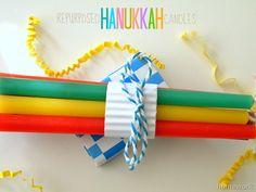 Repurposed Hanukkah Candles