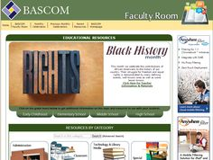 Black History Month - February  2015, BASCOM's Faculty Room offers resources for educators to help teach students about Black History Month and other monthly celebrations