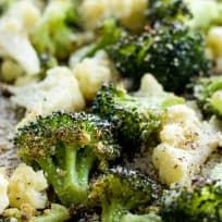 Roasted Broccoli and Cauliflower Recipe with Parmesan & Garlic (Low Carb, Gluten-free)
